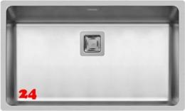 Pyramis Küchenspüle Lume (70x40) 1B Einbauspüle Flachrand / Flächenbündig Siebkorb als Stopfen- oder Drehknopfventil