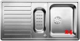 BLANCO Küchenspüle Classic Pro 6 S-IF Edelstahlspüle / Einbauspüle Flachrand mit Ablaufsystem InFino und Drehknopfventil
