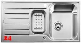 BLANCO Küchenspüle Lantos 6 S-IF Einbauspüle / Edelstahlspüle Flachrand Siebkorb als Drehknopfventil
