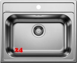 BLANCO Küchenspüle Dana 6 Einbauspüle / Edelstahlspüle mit Hahnlochbank Siebkorb als Stopfenventil