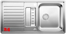 BLANCO Küchenspüle Classic Pro 5 S-IF Edelstahlspüle / Einbauspüle Flachrand mit Ablaufsystem InFino und Drehknopfventil