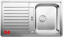 BLANCO Küchenspüle Classic Pro 45 S-IF Edelstahlspüle / Einbauspüle Flachrand mit Ablaufsystem InFino und Drehknopfventil