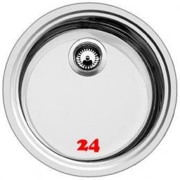 BLANCO Küchenspüle Rondosol-IF Edelstahlspüle / Rundbecken Flachrand mit Siebkorb als Stopfenventil Handbetätigung