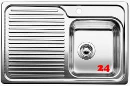 BLANCO Küchenspüle Classic 40 S Edelstahlspüle / Einbauspüle mit Siebkorb als Stopfenventil und Handbetätigung