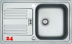 FRANKE Küchenspüle Euroform EFX 614-78 Einbauspüle Siebkorb als Drehknopfventil
