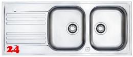 FRANKE Küchenspüle Euroform EFX 621 Einbauspüle / Doppelspüle Siebkorb als Drehknopfventil