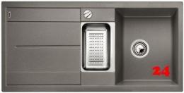 BLANCO Küchenspüle Metra 6 S Silgranit® PuraDur®II Granitspüle / Einbauspüle mit Drehknopfventil in 9 Farben