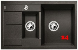 BLANCO Küchenspüle Metra 6 S Compact Silgranit® PuraDur®II Granitspüle / Einbauspüle mit Drehknopfventil in 9 Farben