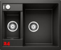 BLANCO Küchenspüle Metra 6 Silgranit® PuraDur®II Granitspüle / Einbauspüle mit Drehknopfventil in 9 Farben
