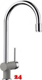 BLANCO Küchenarmatur Filo-S Silgranit®-Look Einhebelmischer / Spültischarmatur mit Zugauslauf als Mousseurbrause