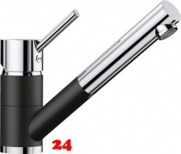 BLANCO Küchenarmatur Antas-S Silgranit®-Look Einhebelmischer mit Zugauslauf 140° schwenkbarer Auslauf in 9 Farben