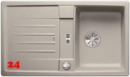 BLANCO Küchenspüle Lexa 45 S Silgranit® PuraDur®II Granitspüle / Einbauspüle Ablaufsystem InFino mit Drehknopfventil