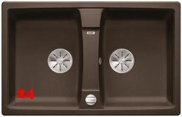 BLANCO Doppelspüle Lexa 8 Silgranit® PuraDur®II Granitspüle / Einbauspüle Ablaufsystem InFino mit Drehknopfventil