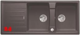 BLANCO Lexa 8 S Silgranit® PuraDur®II Granitspüle / Doppelspüle Ablaufsystem InFino mit Drehknopfventil
