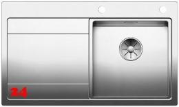 BLANCO Küchenspüle Divon II 45 S-IF Edelstahlspüle / Einbauspüle Flachrand mit Ablaufsystem InFino und Drehknopfventil