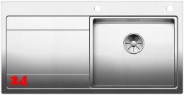 BLANCO Küchenspüle Divon II 5 S-IF Edelstahlspüle / Einbauspüle Flachrand mit Ablaufsystem InFino und Drehknopfventil