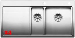 BLANCO Küchenspüle Divon II 6 S-IF Edelstahlspüle / Einbauspüle Flachrand mit Ablaufsystem InFino und Drehknopfventil