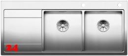 BLANCO Küchenspüle Divon II 8 S-IF Edelstahlspüle / Einbauspüle Flachrand mit Ablaufsystem InFino und Drehknopfventil