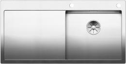 BLANCO Küchenspüle Claron 5 S-IF Edelstahlspüle / Einbauspüle Flachrand mit Ablaufsystem InFino und PushControl