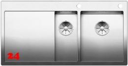 BLANCO Küchenspüle Claron 6 S-IF Edelstahlspüle / Einbauspüle Flachrand mit Ablaufsystem InFino und PushControl