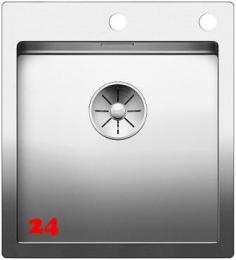 BLANCO Küchenspüle Claron 400-IF/A Edelstahlspüle / Einbauspüle Flachrand mit Ablaufsystem InFino und PushControl