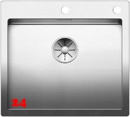 BLANCO Küchenspüle Claron 500-IF/A Edelstahlspüle / Einbauspüle Flachrand mit Ablaufsystem InFino und PushControl
