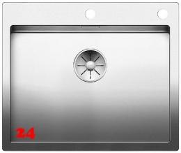 BLANCO Küchenspüle Claron 550-IF/A Edelstahlspüle / Einbauspüle Flachrand mit Ablaufsystem InFino und PushControl