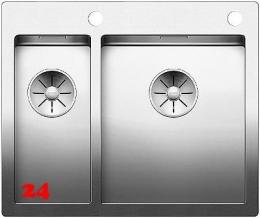 BLANCO Küchenspüle Claron 340/180-IF/A Edelstahlspüle / Einbauspüle Flachrand mit Ablaufsystem InFino und PushControl