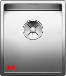 BLANCO Küchenspüle Claron 340-IF Edelstahlspüle / Einbauspüle Flachrand mit Ablaufsystem InFino und Handbetätigung