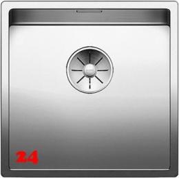 BLANCO Küchenspüle Claron 400-IF Edelstahlspüle / Einbauspüle Flachrand mit Ablaufsystem InFino und Handbetätigung