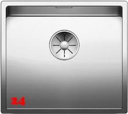 BLANCO Küchenspüle Claron 450-IF Edelstahlspüle / Einbauspüle Flachrand mit Ablaufsystem InFino und Handbetätigung