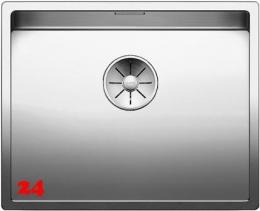 BLANCO Küchenspüle Claron 500-IF Edelstahlspüle / Einbauspüle Flachrand mit Ablaufsystem InFino und Handbetätigung