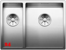 BLANCO Küchenspüle Claron 340/180-IF Edelstahlspüle / Einbauspüle Flachrand mit Ablaufsystem InFino und Handbetätigung