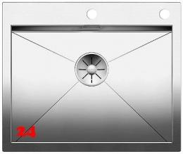 BLANCO Küchenspüle Zerox 550-IF/A Edelstahlspüle / Einbauspüle Flachrand mit Ablaufsystem InFino und PushControl