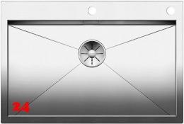 BLANCO Küchenspüle Zerox 700-IF/A Edelstahlspüle / Einbauspüle Flachrand mit Ablaufsystem InFino und PushControl