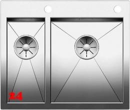 BLANCO Küchenspüle Zerox 340/180-IF/A Edelstahlspüle / Einbauspüle Flachrand mit Ablaufsystem InFino und PushControl