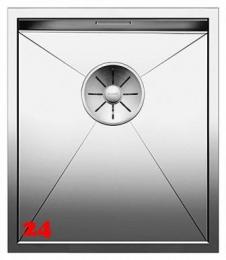 BLANCO Küchenspüle Zerox 340-IF Edelstahlspüle / Einbauspüle Flachrand mit Ablaufsystem InFino und Handbetätigung