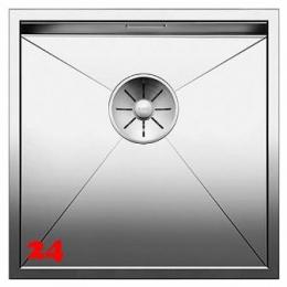 BLANCO Küchenspüle Zerox 400-IF Edelstahlspüle / Einbauspüle Flachrand mit Ablaufsystem InFino und Handbetätigung