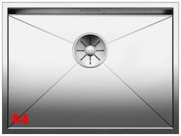 BLANCO Küchenspüle Zerox 550-IF Edelstahlspüle / Einbauspüle Flachrand mit Ablaufsystem InFino und Handbetätigung