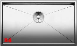 BLANCO Küchenspüle Zerox 700-IF Edelstahlspüle / Einbauspüle Flachrand mit Ablaufsystem InFino und Handbetätigung