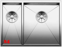 BLANCO Küchenspüle Zerox 340/180-IF Edelstahlspüle / Einbauspüle Flachrand mit Ablaufsystem InFino und Handbetätigung