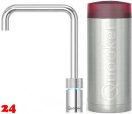 QUOOKER Nordic Square Combi 100°C Armatur Solohahn Chrom als Kochendwasser Armatur (22NSCHR)