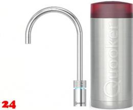 QUOOKER Nordic Round Combi(+) 100°C Armatur Solohahn Chrom als Kochendwasser Armatur (22+NRCHR)