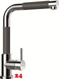 SCHOCK Küchenarmatur SC-300 Cristadur® Classic Line Einhebelmischer Zugauslauf 360° schwenkbarer Auslauf mit Materialhülse und Schlauchbrause in 9 Farben