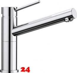 BLANCO Küchenarmatur Alta Compact Chrom Einhebelmischer Niederdruck mit Festauslauf 360° schwenkbarer Auslauf