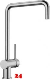 BLANCO Küchenarmatur Finess Edelstahl gebürstet Einhebelmischer / Spültischarmatur mit Festauslauf 360° schwenkbarer Auslauf
