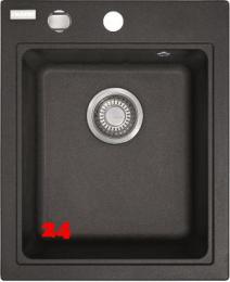 FRANKE Küchenspüle Maris MRG 610-42 Fragranit+ Einbauspüle / Granitspüle mit Siebkorb als Drehknopfventil