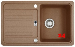 x FRANKE Euroform EFG 614-78 Fragranit+ Einbauspüle / Granitspüle mit Drehknopfventil