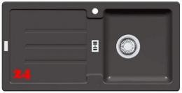 x FRANKE Strata STG 614 Fragranit+ Einbauspüle / Granitspüle mit Stopfen- oder Drehknopfventil