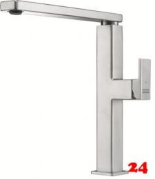 FRANKE Küchenarmatur Centinox Einhebelmischer Edelstahl mit Festauslauf und Laminar Perlator 360° schwenkbarer Auslauf